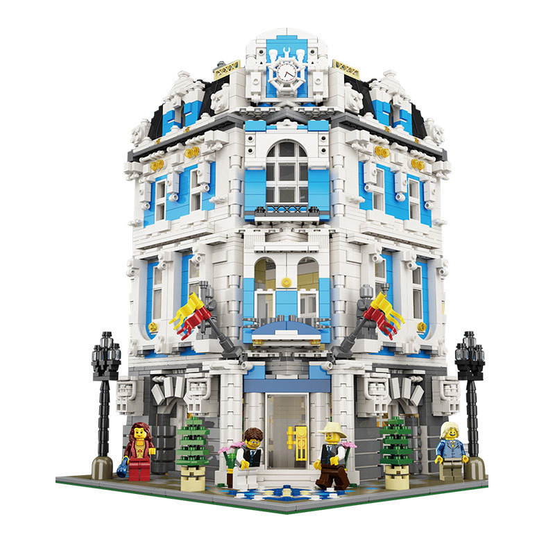 Lepin 15018 3196pcs Creative City Street Building The Sunshine Hotel Set Building Block Bricks Toys Children Gifts lepin 15018 3196pcs creator city series sunshine hotel model building kits brick toy compatible christmas gifts