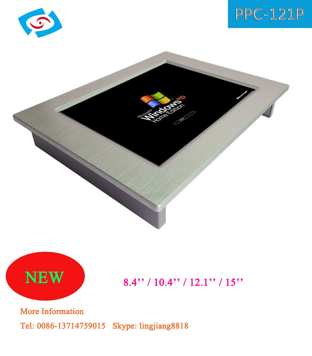 FANLESS 12.1 inch touch screen industrial panel PC N2800 CPU/2GB DDR3/32GB SSD support 3G+ WIFI