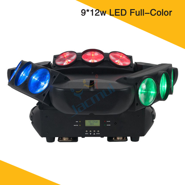 Large Size Luz Principal Movil 9*12w Triangle Spider LED Beam Moving Head Light For Stage Party