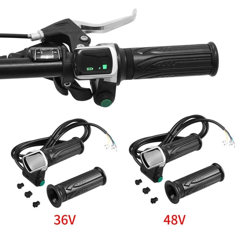 1 Pair Waterproof LCD Display Electric Bike Throttle Electric Bike Motorcycle Electric Scooter Ebike handlebar Grip