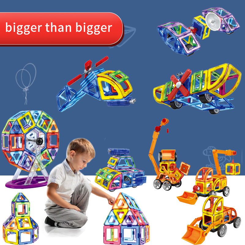 Educational enlighten magnetic designer Blocks bricks kids games for children boys construction Assemble models & building toys 162pcs big size magnetic designer construction building blocks toys technic plastic blocks assembly children enlighten bricks