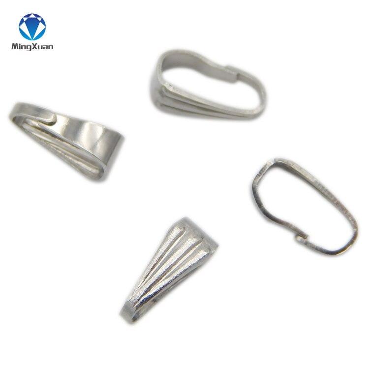 100 pcs of Silver Toned Triangular 9mm x 9mm  Pinch Bails