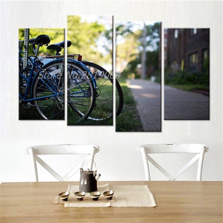 paneles de envo de la gota bicicletas cuadros modernos sin marco paisaje moderno arte de