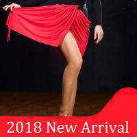 Good Quality Latin Dance Skirts For Ladies Red Color Elegant Skirt Professional Women Square Ballroom Tango