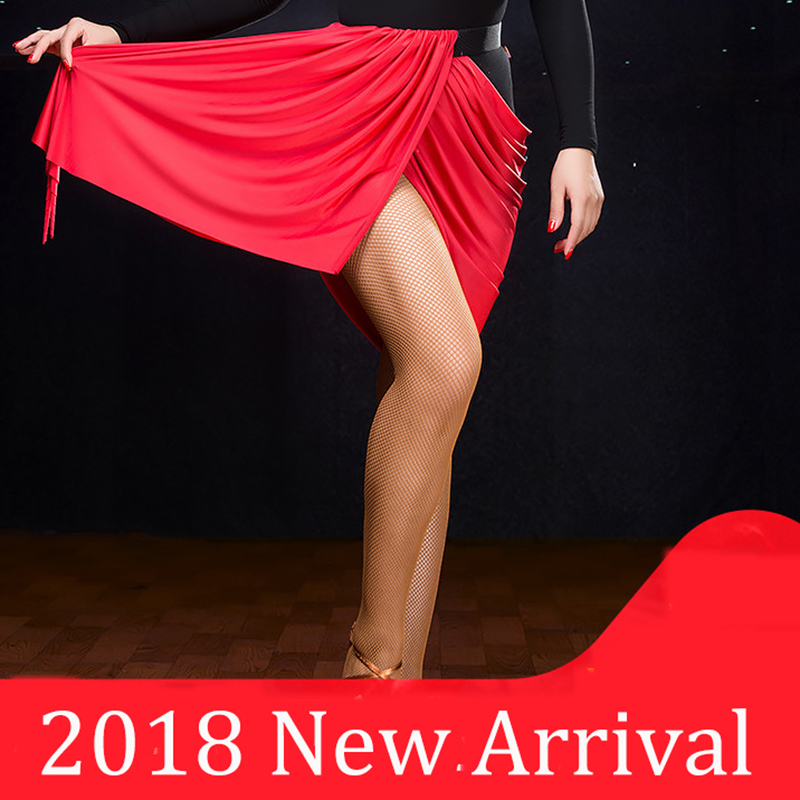 Good Quality Latin Dance Skirts For Ladies Red Color Elegant Skirt Professional Women Square Ballroom Tango Costumes Y10561