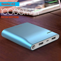 Besiter Power Bank 10000mah Portable Quick Charge For Smart Phones Charging Charger For Samsung Xiaomi Cargador