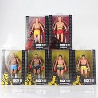 NECA Rocky III IV Figure Ivan drago Rocky Balboa Clubber Lang 40th Anniversary Boxer PVC Figure Action Model Toys