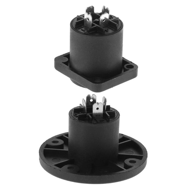 4PCS Jack Panel Socket Connector 4 Pole Audio Speaker Twist Lock Round Square Mount For Neutrik Speakon NL4MP NL4MPR NL4FC NL4FX
