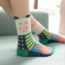 New women lovely  rabbit  Sock cute cartoon sox Autumn And Winter Japanese style Fashion Cotton Printing Tube Socks floor Socks