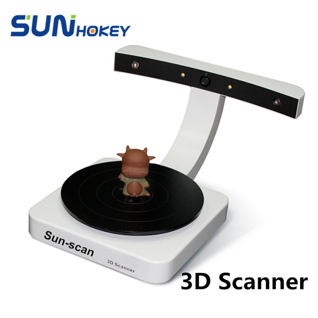 2016 Sunhokey 32Bits Dual Laser 3D Scanner Sun-Scan 2MP CMOS Image Sensor USB Interface Tape 3D Scan