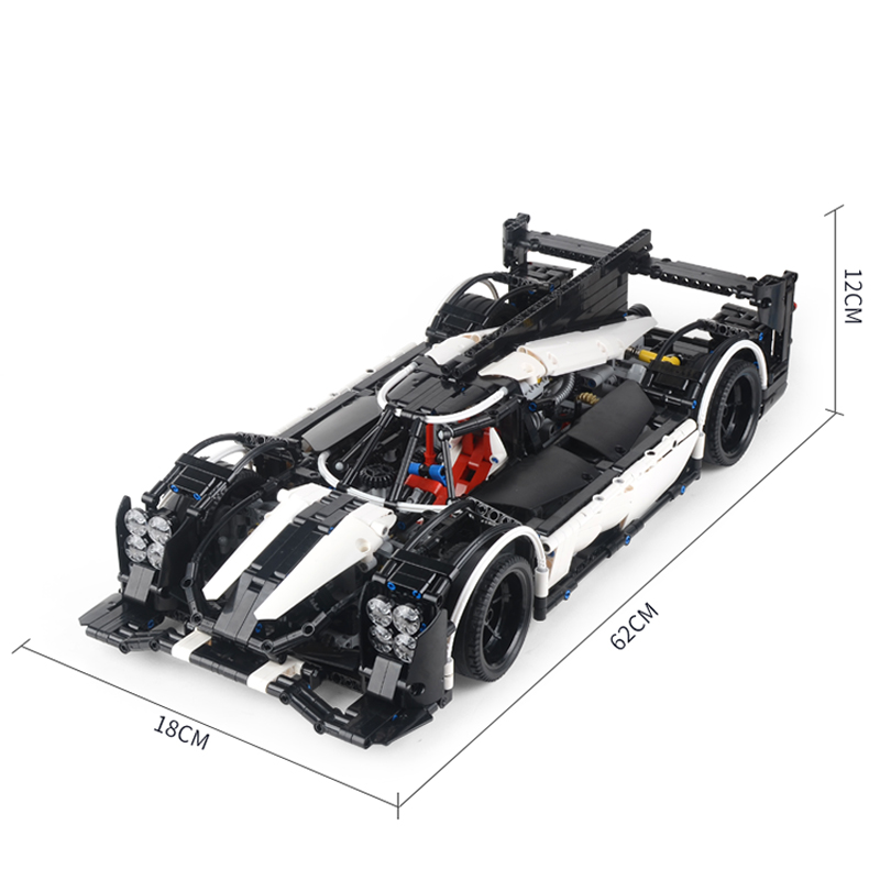 Technic Light LED MOC Hybrid Super Race Car Champion Marvel Model Building Blocks Sets Kits Bricks Toys Compatible 5530 in Blocks from Toys Hobbies