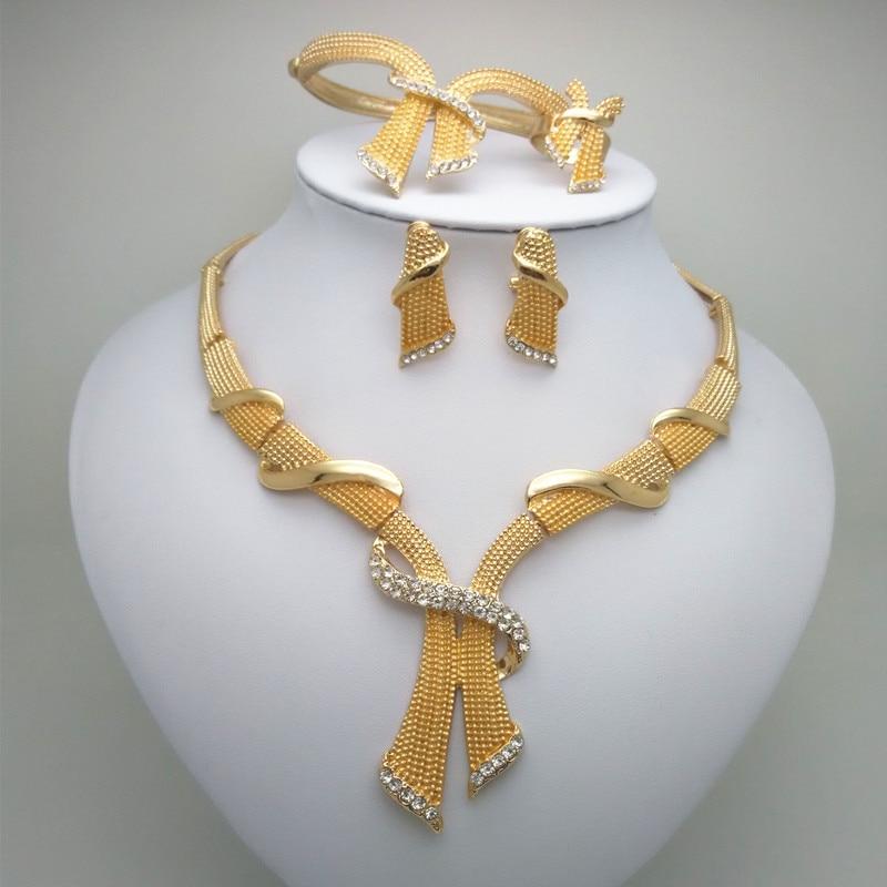 Kingdom Ma NWE goud kleur Dubai sieraden sets Nigeriaanse bruiloft Afrikaanse kralen sieraden set armband Earring Ring grote sieraden set