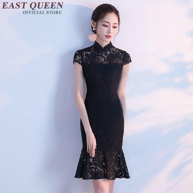 Новое поступление, современное платье qipao, женские Китайские Восточные платья, ажурное элегантное кружевное платье с воланом, 2018, S 3XL, NN0598, YQ