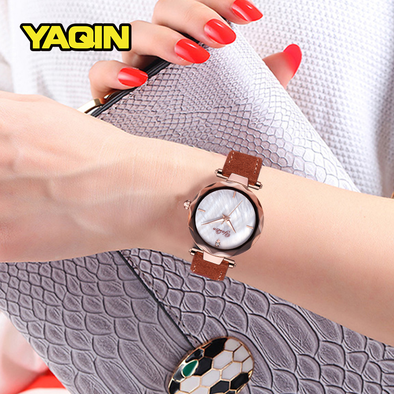 2018 Luxury women watch brand gold watch fashion design leather watch women quartz watch Relogio Feminino in Women 39 s Watches from Watches
