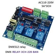 купить free shipping Hight Voltage AC110-220V 3CH/ 4CH relay DMX512 decoder led Controller for led lamp led strip light дешево