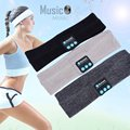 Unisex Warm Headband Wireless Bluetooth Smart Caps Headphone Headset Speaker Mic