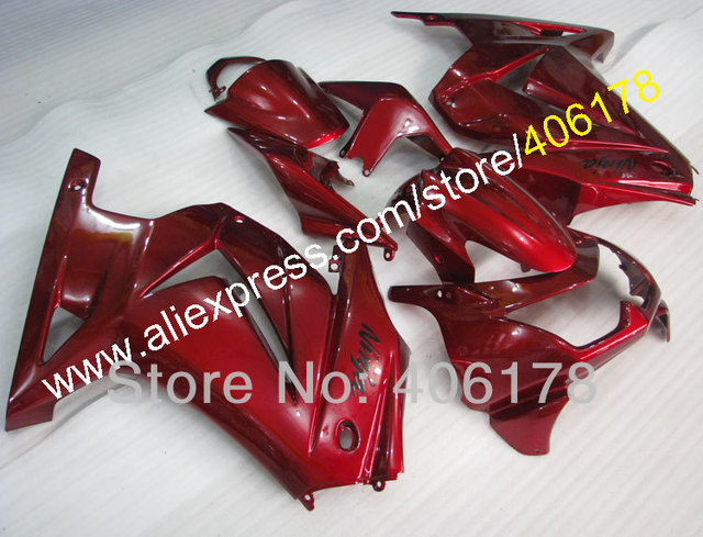 Injection Mold EX250 Fairing For ZX250R 2008-2012 Dark Red bike Motorcycle Fairings Kit (Injection molding)