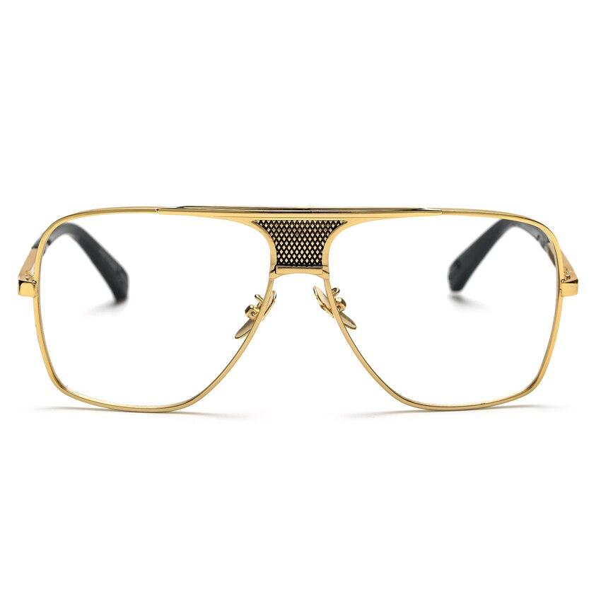 daa9117532c1 Peekaboo Luxury eye glasses frames for men 2017 top quality gold metal flat  top big man glasses optical frames brand gafas-in Eyewear Frames from  Apparel ...