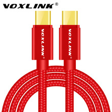 VOXLINK Hi-speed USB Type C Cable USB-C Male to USB-C Male Charger Data Type-C Cable for MacBook Nexus 5X/6P Oneplus 2 3 ZUK Z1 цены
