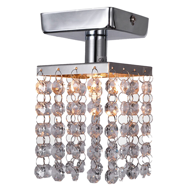 Online Shop Practical1 Light Mini Semi Flush Mount Crystal