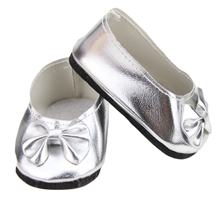 18 American Girl Doll Shoes American Girl Doll accessories of Grey Party Shoes with Bow