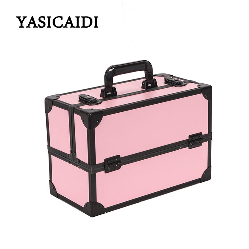 Portable Makeup Organizer Female Fashion PU Make Up Bag Cosmetic Neceser Pouch Sorting Storage Bag Large Women Makeup Box new women fashion pu leather cosmetic bag high quality makeup box ladies toiletry bag lovely handbag pouch suitcase storage bag