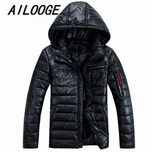 High Quality 2016 New Fashion Mens Winter Hooded Down Jackets Male Fur Collar Puffer Goose Down Jacket Men Thicken Parka Coat