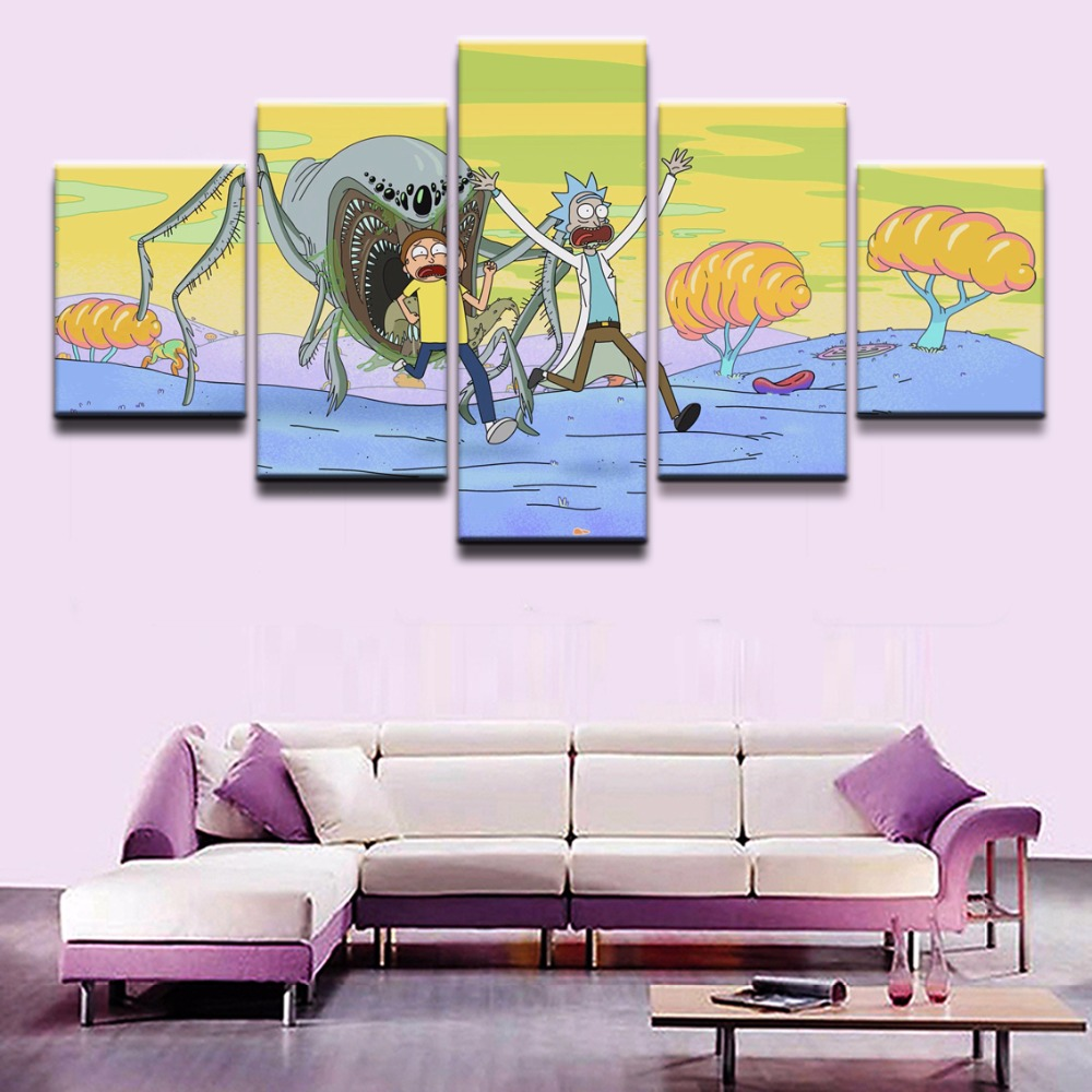 Modern Decor Canvas Animated Science Fiction Comedy 5