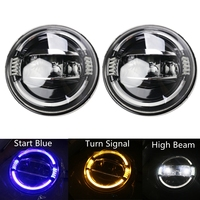 For Jeep Land Rover Defender 7inch LED Headlights with Halo DRL for Lada Niva 4x4 7 LED Projector Headlamps with Turn Signal