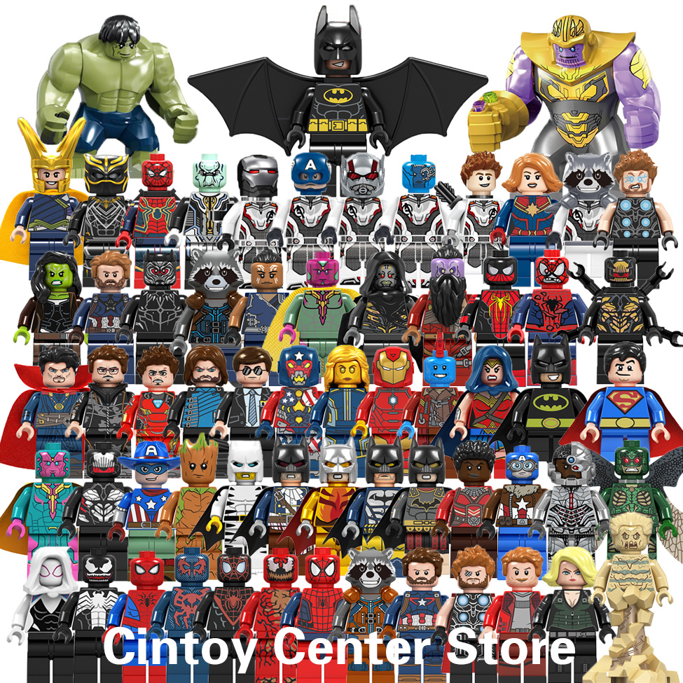 Building Blocks Marvel Figure Super Heroes Captain America Ant Iron Man Hulk Thanos Endgame Toy LegoINGlys Marvel Avengers Brick
