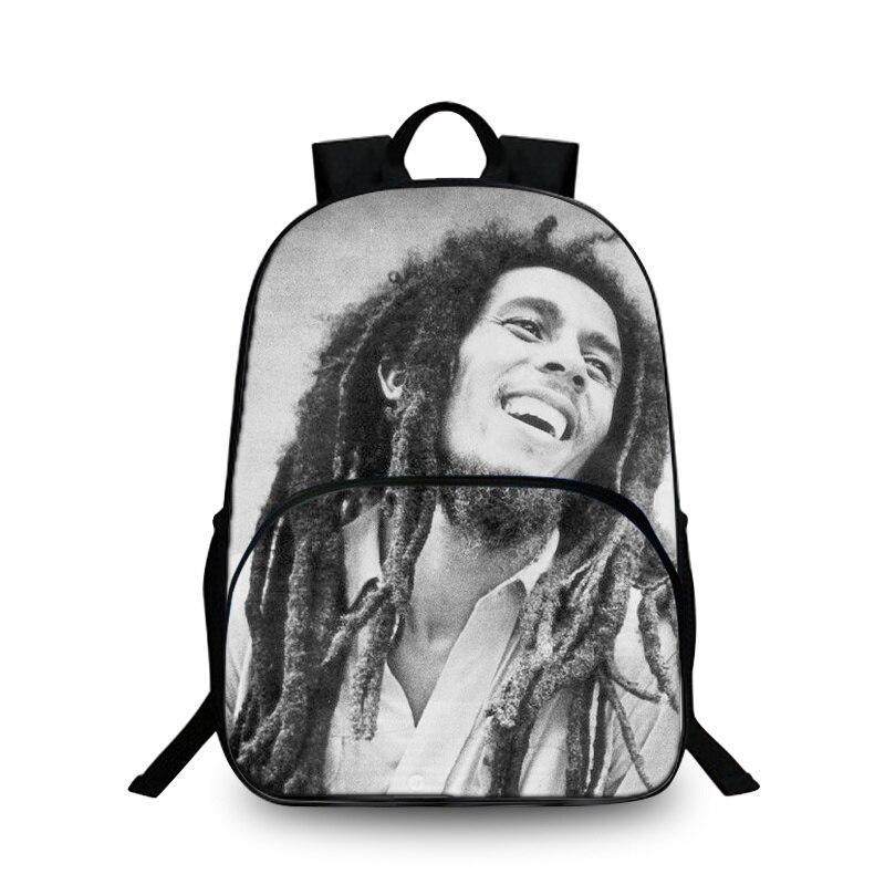 Baobeiku 3D Рюкзаки моды Боб Марли принт Сумки для детей школьная дети рюкзак для ноутбука дропшиппинг