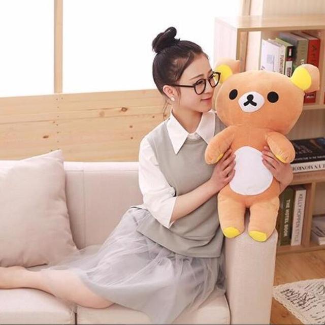 35 Cm 60 Cm Kawaii Besar Cokelat Japanese Gaya Rilakkuma Mewah Animal Doll Mainan  Boneka Boneka Teddy Beruang Ulang Tahun hadiah 61fed76c73