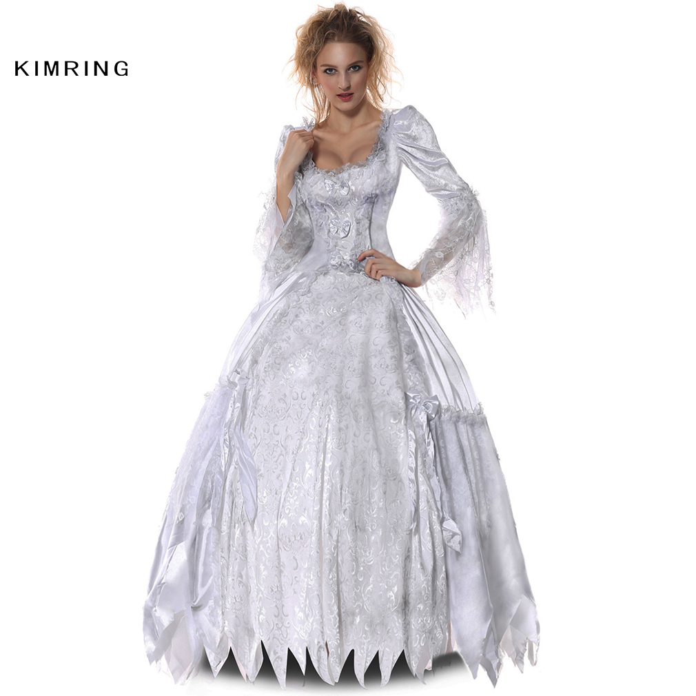 kimring sexy victorian halloween costume gothic lolita cosplay dress for women plus size countess corpse fancy - Halloween Costumes Victorian