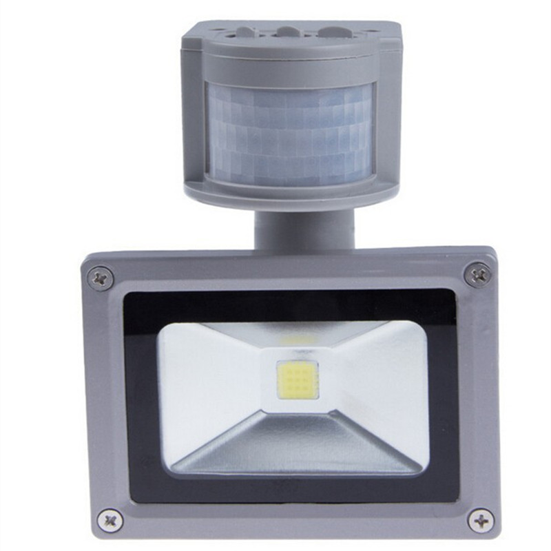 LED Flood light Sensor 10W 20W 30W 50W Outdoor lighting garden lamp 100W PIR with motion detective sensor reflector spotlight free dhl fedex 85 265v 10w 20w 30w 50w 70w 100w pir led floodlight with motion detective sensor outdoor led flood light spot