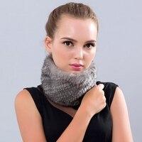 Natural fur mink hair knit scarf 2019 mink knitted scarf fashion leading high stretch twin hair warm winter fashion