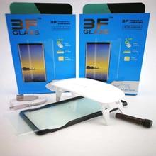 Жидкость УФ Клей закаленное Стекло Экран протектор для samsung Galaxy S9 S9 плюс примечание 9 2 шт Стекло + 2 шт Клей + 1 большой свет