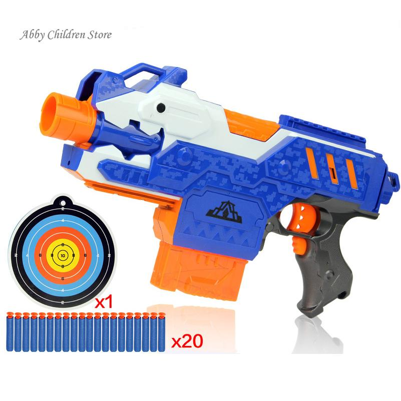 Abbyfrank Soft Bullet Toy Pistol Gun Toy Sniper Rifle Plastic Gun 20  Bullets 1 Target Electric Gun Arma Arme Children Gift-in Toy Guns from Toys  & Hobbies ...