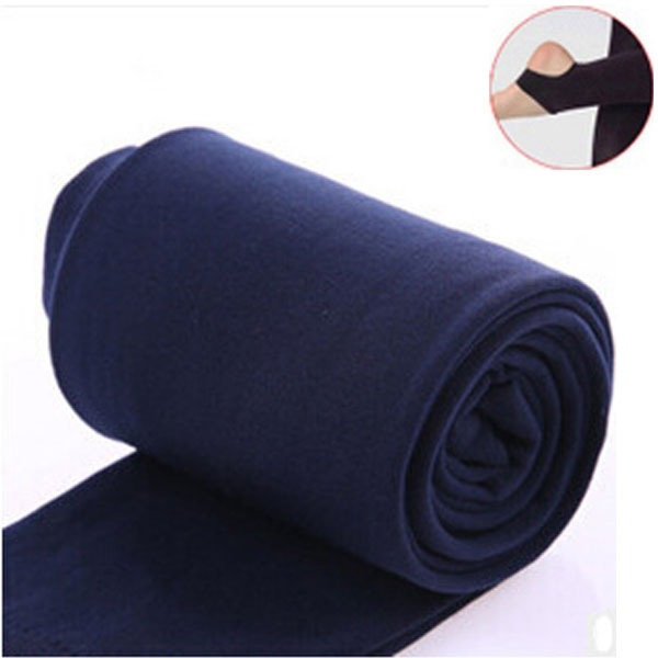 2020 Autumn winter woman thick warm leggings candy color brushed charcoal Stretch Fleece Pants Trample Feet Leggings 9
