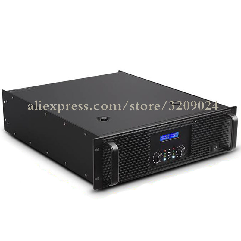 2 Channel Microphone Amplifier 2000W X2 Mic Amplifier Audio Professional Power Amplifier Subwoofer Power Supply Amp