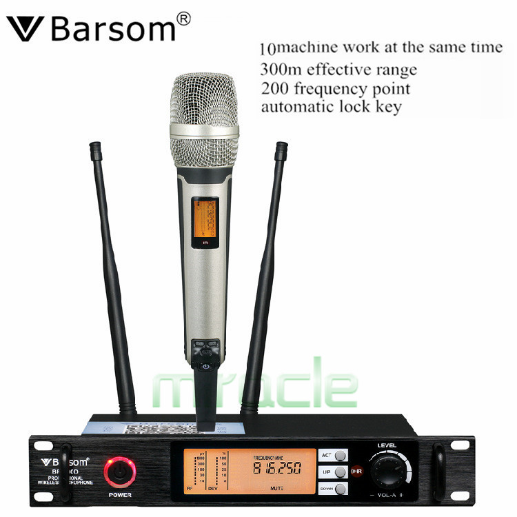 Barsom DR-100D wireless Handheld microphone stage performance stage show/compere microphone KTV/karaoke microphone Freeshipping
