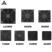 50PCS Gdstime 120mm Fan Dust Filter 90mm 80mm 70mm 60mm 50mm 40mm Dustproof Screen PC Computer Case Mesh