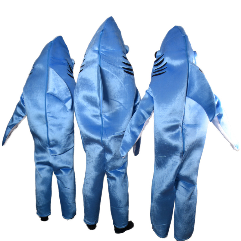 Горячая Распродажа синий костюм акулы талисман взрослый костюм талисмана нарядное платье Charactor - 4