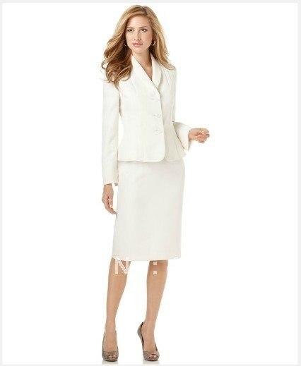 Women Suit Ivory Women Suit Shawl Collar Jacket Skirt Accept