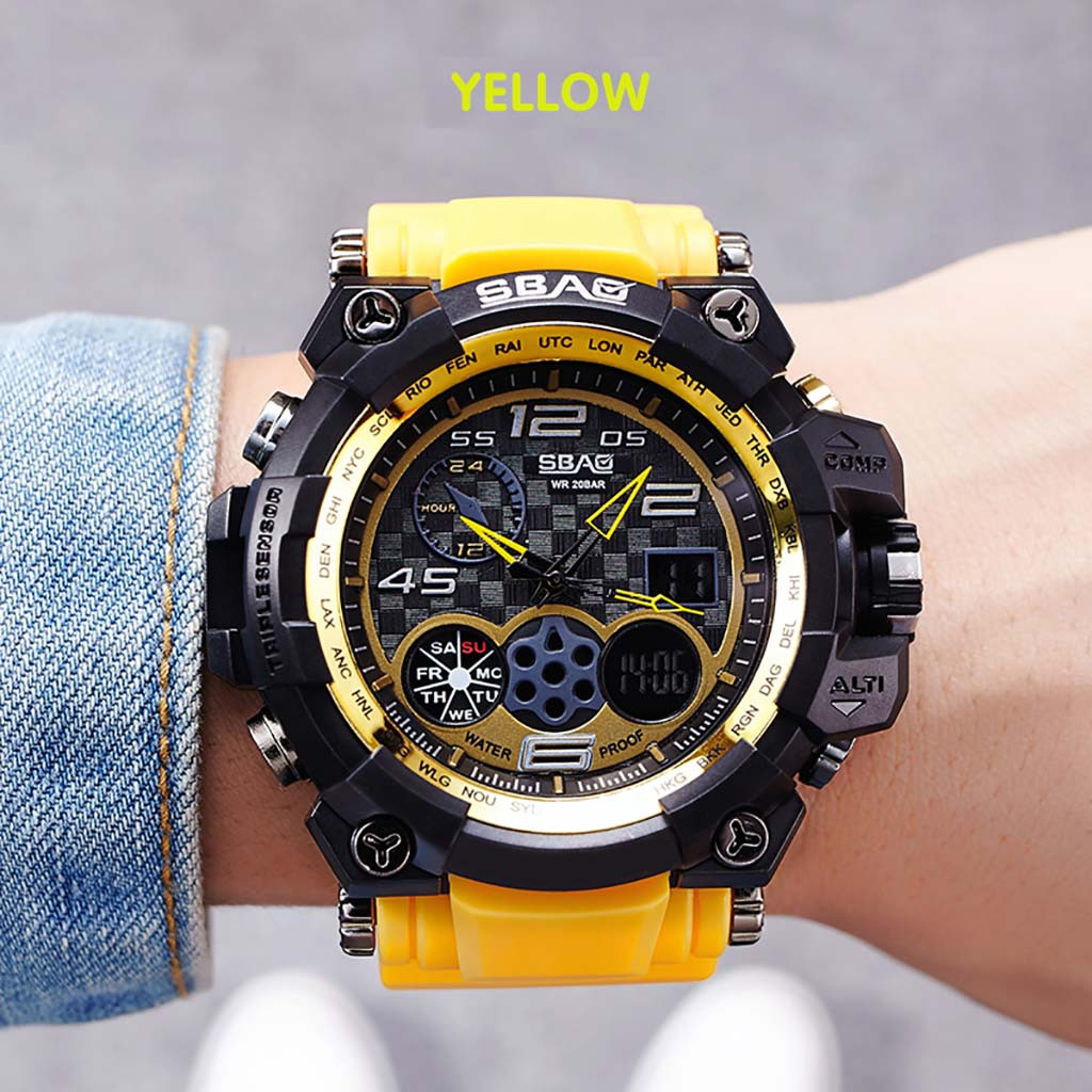 Digital Watch Sports-Shock Military Camouflage Electronic Men Male for Man LD Display-Style