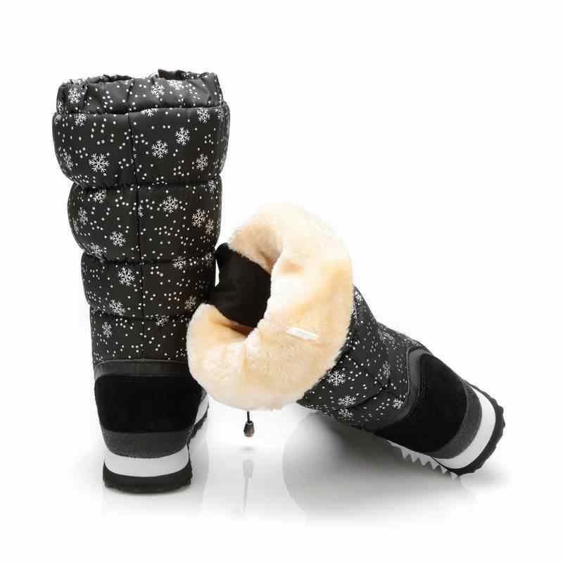 MORAZORA/Новинка 2019 года; теплые зимние сапоги; женские замшевые сапоги до середины икры; женская обувь из водонепроницаемого плюша; женские зимние сапоги