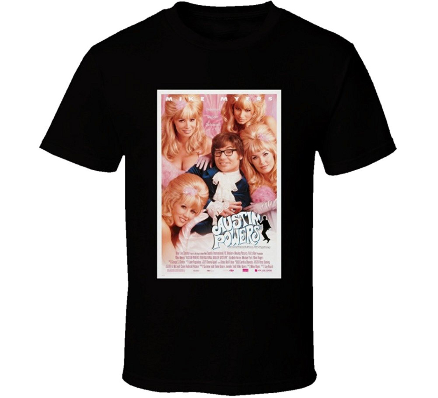 Color printing austin - Gildan Solid Color Austin Powers International Man Of Mystery Cool 90 S Comedy Vintage Classic Movie