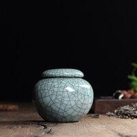 Tea Beauty New 7 Colors Top Grade Crackle Glaze Longquan Celadon Ceramics Eco Friendly Tea Caddy