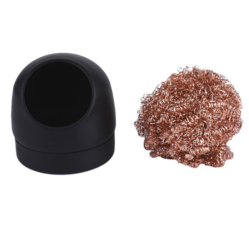 1pcs wire with stand set welding solder iron tip cleaner cleaning steel CO LLD
