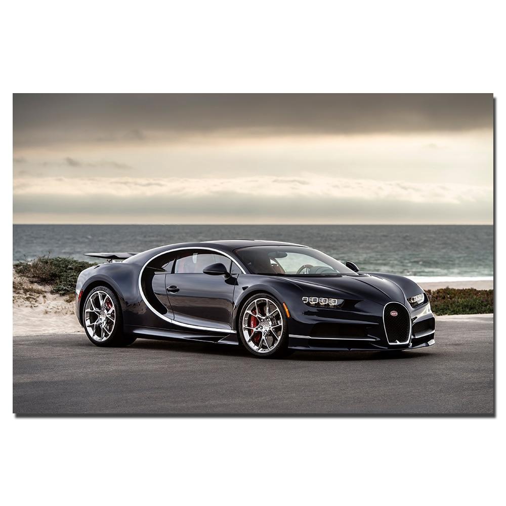 Bugatti Supercar: Bugatti Chiron Supercar Poster Wall Art Vehicle Picture