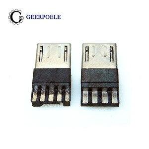 20 pcs/lot 4 Pin/5 Pin Micro USB Connector Jack USB Plug Terminals Male Connectors Tail
